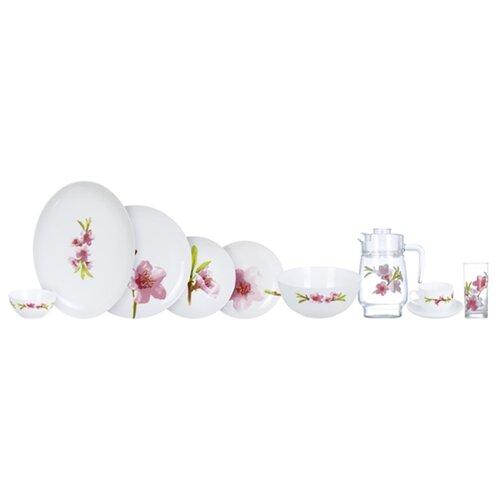 Фото - Столовый сервиз Luminarc Water Color P7076, 6 персон белый/прозрачный/розовый сервиз столовый luminarc harena 19 предметов 6 персон