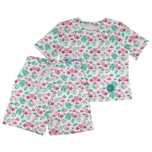 Фото - Пижама Marengo Textile размер 128, белый/розовый/зеленый пижама marengo textile размер 128 зеленый белый розовый