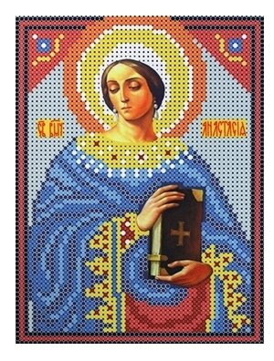 Канва для вышивания с рисунком Каролинка Св. Мученица Анастасия КБИ-5061 13 х 16 см