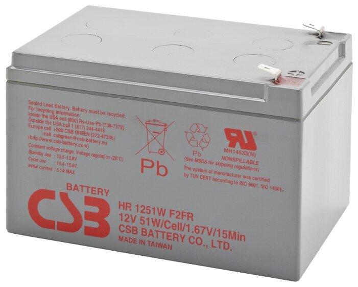 Аккумуляторная батарея CSB HR 1251W 13 А·ч