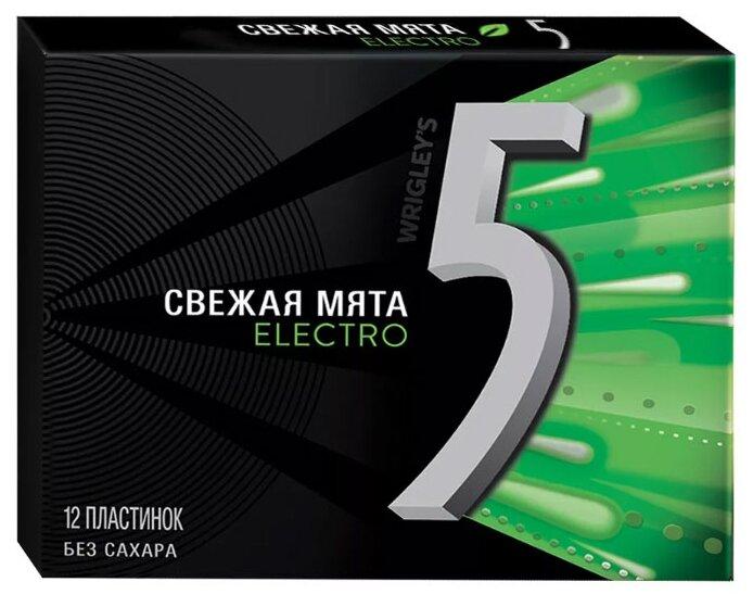 Жевательная резинка Five Electro Свежая мята, без сахара 31,2 г