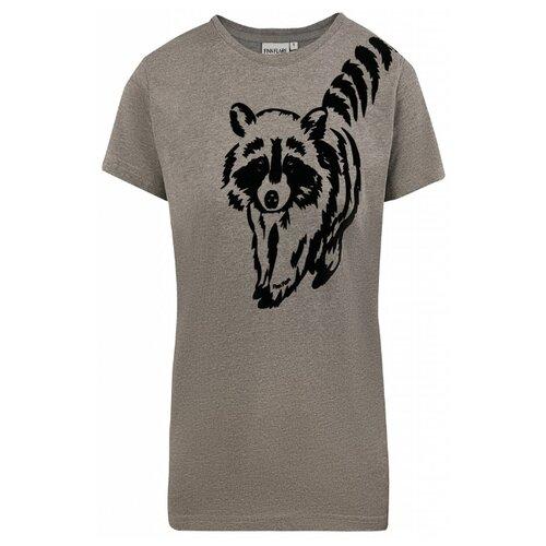 Футболка FiNN FLARE B20-32059M размер 2XL, серый меланж футболка finn flare b20 32068m размер 2xl серый меланж