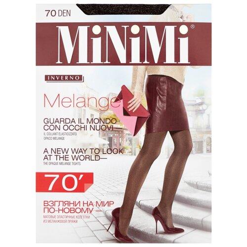 Колготки MiNiMi Melange 70 den, размер 2-S/M, moka melange (коричневый) фото