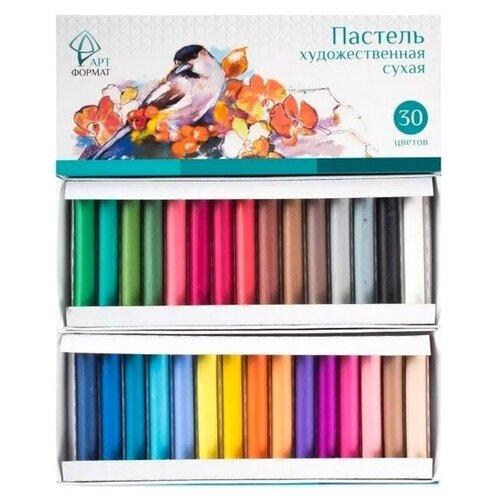 Купить АРТФОРМАТ Сухая художественная пастель, 30 цветов, Пастель и мелки