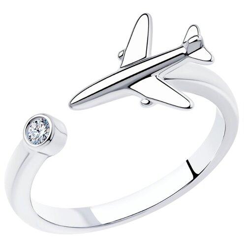 SOKOLOV Кольцо из серебра с фианитом 94013221, размер 17