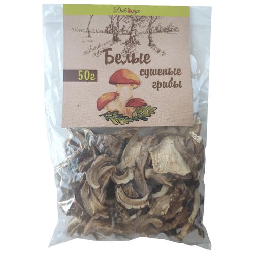 Дикорус Белые грибы резаные сушенные, флоу-пак (Россия) 50 г