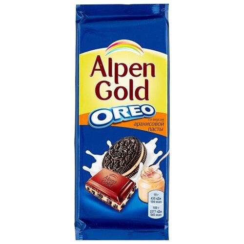 Шоколад Alpen Gold Oreo молочный с дробленым печеньем Орео и арахисовой пастой, 95 г майка классическая printio печенье орео oreo cookies