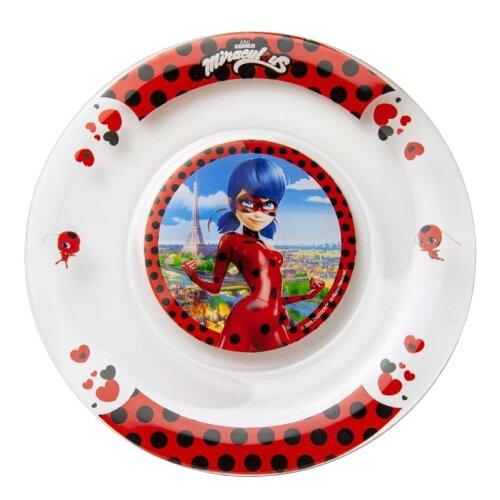 Набор для завтрака ND Play Леди Баг и Супер Кот: Париж, 1 персона белый/красный