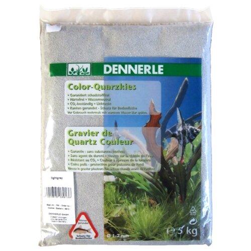 Грунт Dennerle Color Quarz 1-2 мм, 5 кг светло-серый