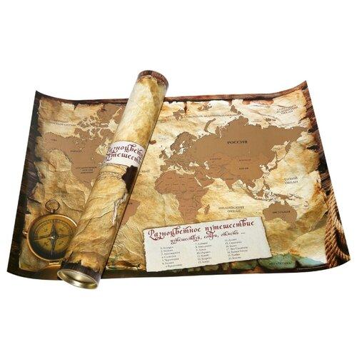 Купить Правила Успеха Карта мира А2 со стираемым слоем в тубусе (4610009211862), 65 × 45 см, Карты