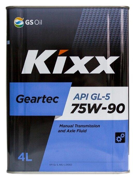 Трансмиссионное масло Kixx Geartec GL-5 75W-90 1 л