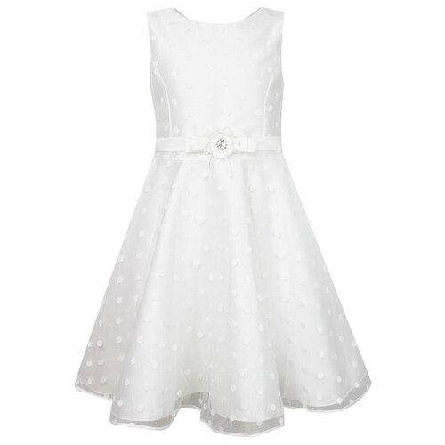 Платье Abel & Lula размер 128, белый/горошек abel