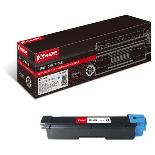 Фото - Картридж лазерный Комус TK-580C для Kyocera FS-C5150DN картридж лазерный комус tk 580k черный для kyocera fs c5150dn