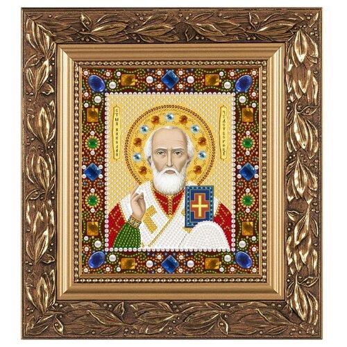 Купить NOVA SLOBODА Набор для вышивания бисером иконы Св. Николай Чудотворец 13 х 15 см (Д6026), Наборы для вышивания