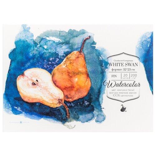 Купить Альбом для акварели Малевичъ White Swan Fin 32 х 23 см, 200 г/м², 20 л., Альбомы для рисования