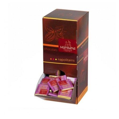 Шоколад Monbana горький с нугой 70% порционный в диспенсере, 4 г (200 шт.) коммунарка шоколад горький с клубничным соком 200 г