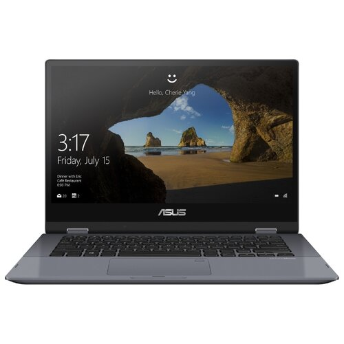 Купить Ноутбук ASUS VivoBook Flip 14 TP412FA-EC141T (Intel Core i3 8145U 2100MHz/14 /1920x1080/4GB/256GB SSD/DVD нет/Intel UHD Graphics 620/Wi-Fi/Bluetooth/Windows 10 Home) 90NB0N31-M05740 star grey