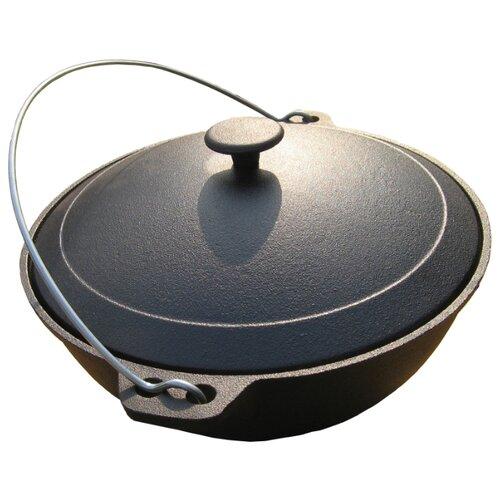 Фото - Казан Myron Cook Tradition MC0042, черный сковорода блинная myron cook tradition mc6254 25 см черный