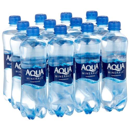 Фото - Вода питьевая Aqua Minerale газированная, ПЭТ, 12 шт. по 0.5 л термокружка aqua 355 мл smid12a smidge