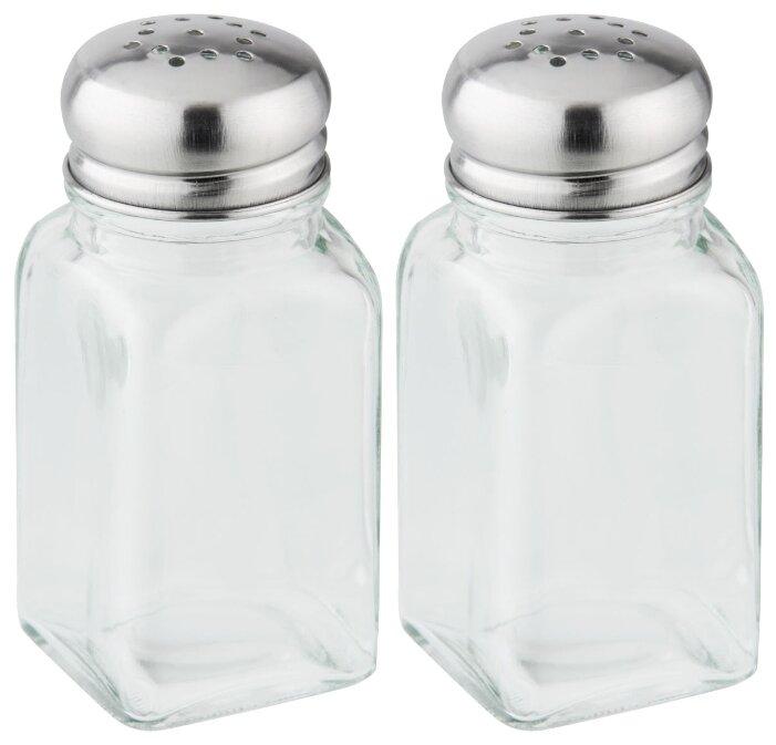 Fackelmann Набор для соли и перца 46870 прозрачный/серебристый