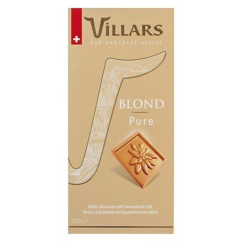 Шоколад Villars Blond Pure белый с карамелизованным молоком, 100 г