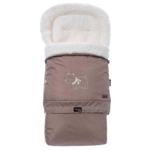 цена Конверт-мешок Nuovita Alaska Bianco меховой трансформер 83 см капучино онлайн в 2017 году