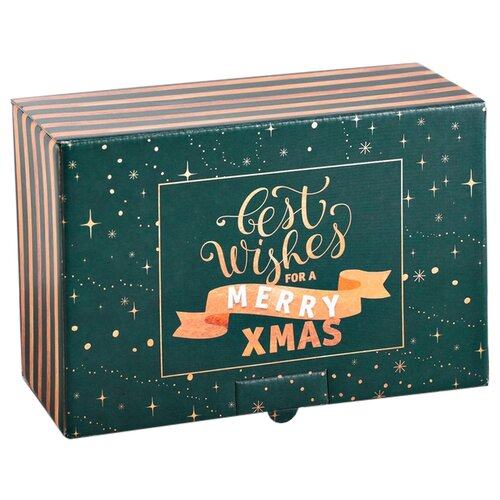Фото - Коробка подарочная Дарите счастье С наилучшими пожеланиями 22 х 10 х 15 см green подарочная коробка дарите счастье 3122698 складная коробка с днем рождения