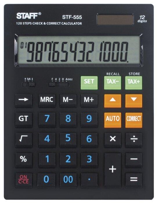 Калькулятор бухгалтерский STAFF STF-555