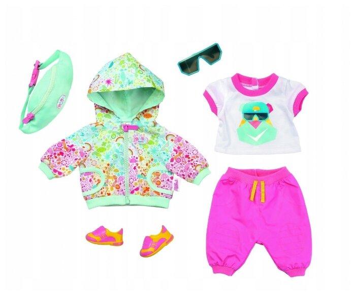 Zapf Creation Комплект одежды для куклы Baby Born для велосипедной прогулки Делюкс, 827192
