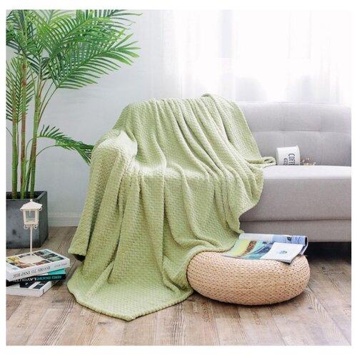 Плед Cleo Royal plush 180х200 см, зеленый плед cleo бамбук арт 025 pb 180х200 см