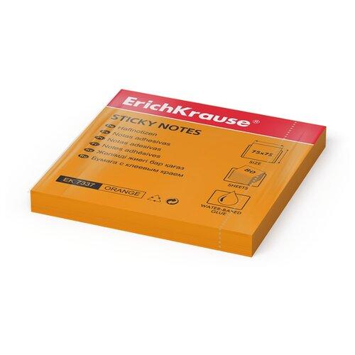 ErichKrause закладки Neon, 75х75 мм, 80 штук (7323/7335/7336/7337) оранжевый