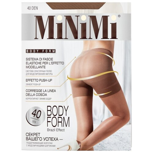 Колготки MiNiMi Body Form 40 den, размер 2-S/M, daino (бежевый) колготки glamour thin body 40 den размер 2 s daino бежевый