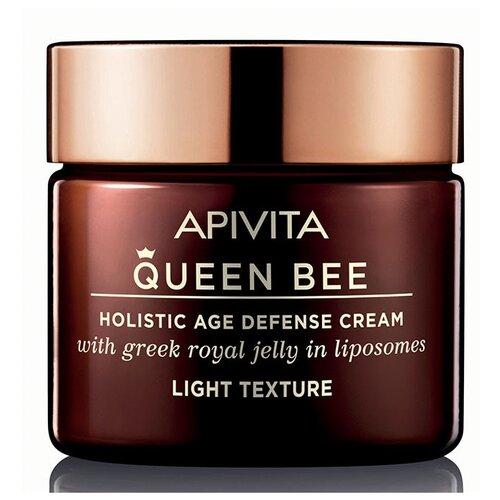 крем Apivita Queen Bee Holistic Age Defense Cream Light Texture Квин Би комплексный уход против старения с легкой текстурой, 50 мл