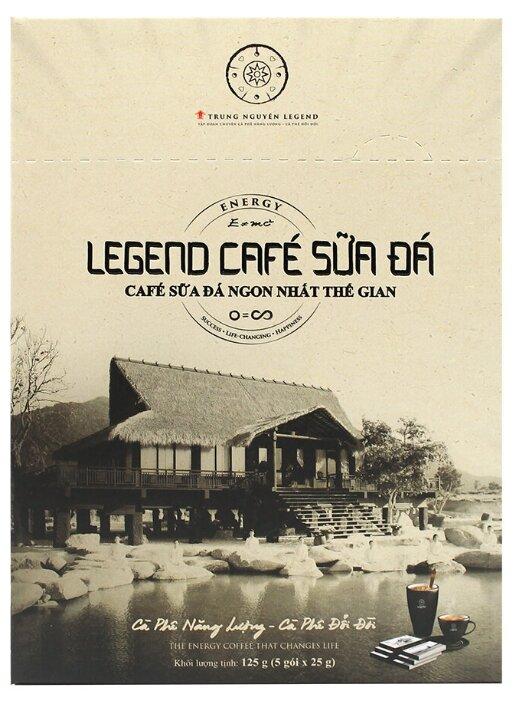 Купить TRUNG NGUYEN, Растворимый кофе Legend Cafe SUA DA 3 в 1, 5шт*25гр по низкой цене с доставкой из Яндекс.Маркета