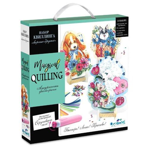 Origami Magical quilling Набор квиллинга Верные друзья белый/голубой, Квиллинг  - купить со скидкой