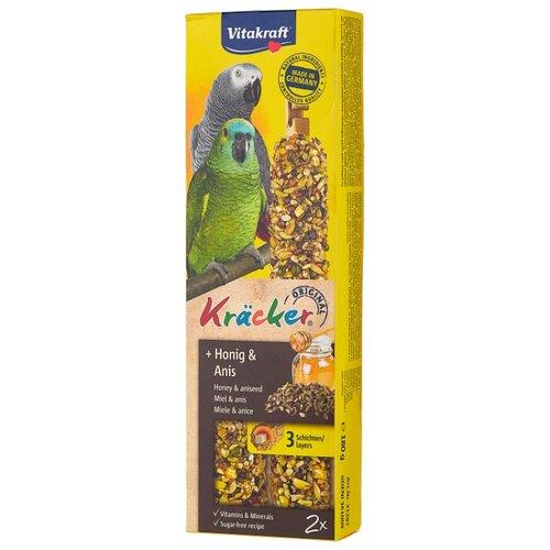 Лакомство для птиц Vitakraft Крекеры для африканских попугаев медовые (21287) 180 г