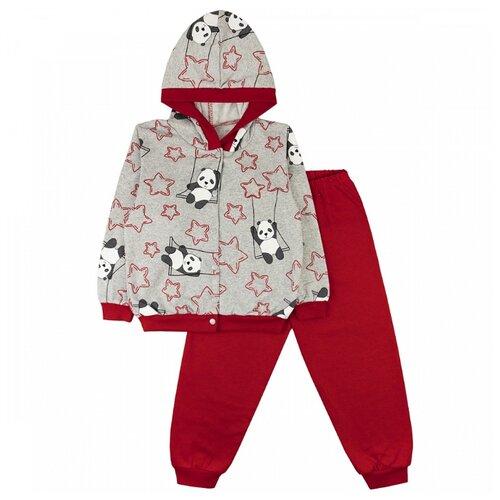 Купить Комплект одежды Юлала размер 56, серый/красный, Комплекты