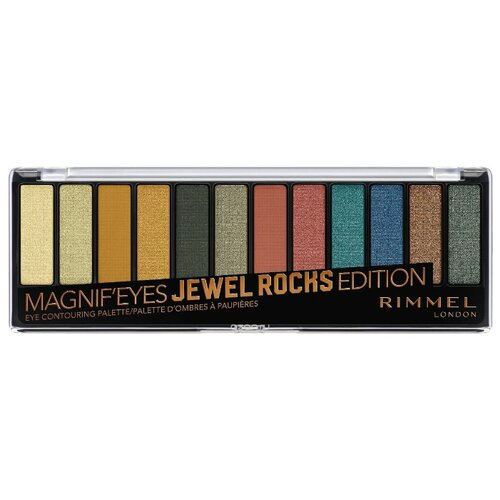 Rimmel Палетка теней Magnif`eyes Jewel rocks тон 009 rimmel палетка теней magnif eyes crimson тон 007