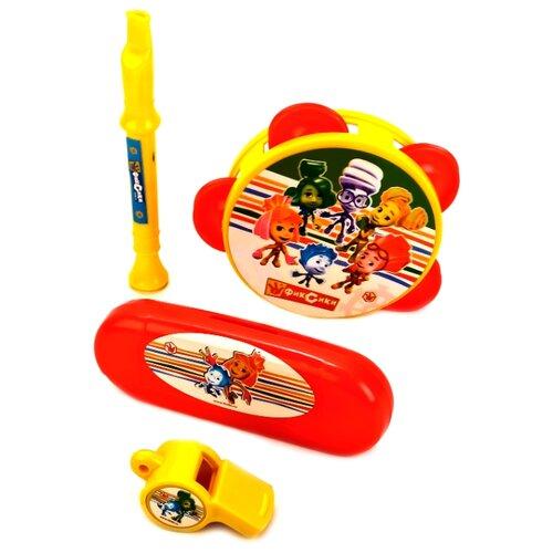 Купить Играем вместе набор инструментов Фиксики 1405M481-R1 красный/желтый, Детские музыкальные инструменты
