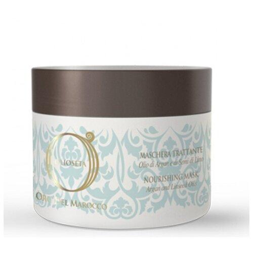 Купить Barex Olioseta Oro del Marocco Питательная маска с маслом арганы и маслом семян льна для волос, 500 мл