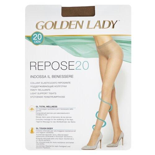Колготки Golden Lady Repose 20 den, размер 4-L, daino (бежевый) колготки golden lady bodyform 20 den размер 4 l daino бежевый