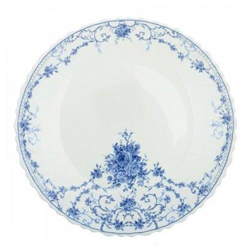 Millimi Тарелка десертная Ариадна 21.5 см белый/голубой