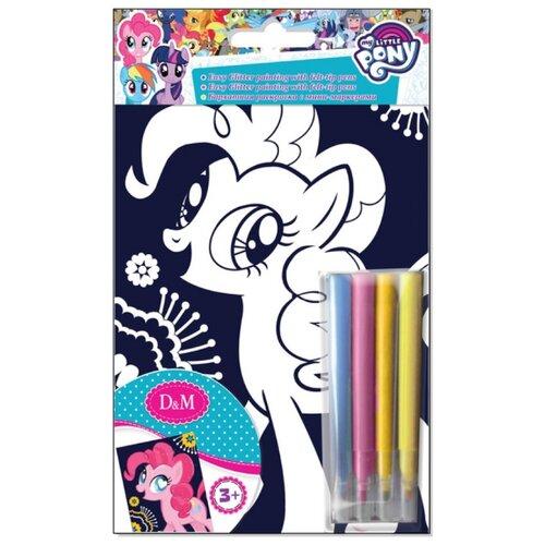 Купить D&M My Little Pony. Бархатная раскраска Пинки Пай, Раскраски