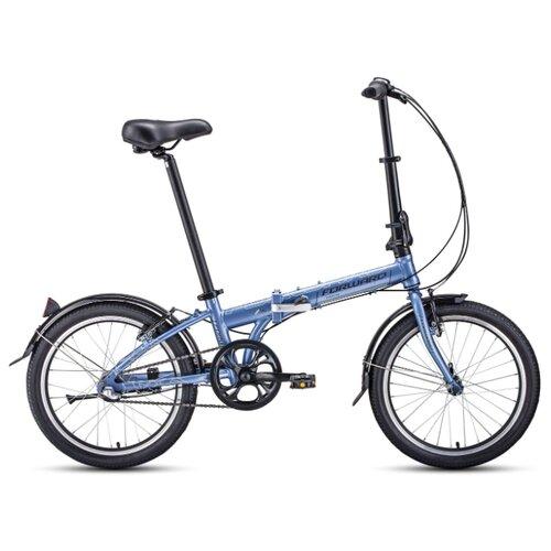 """Городской велосипед FORWARD Enigma 20 3.0 (2020) сиреневый/коричневый 11"""" (требует финальной сборки)"""