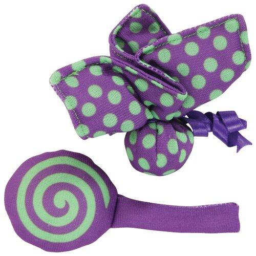 Фото - Набор игрушек для кошек ZOLUX бабочка и конфета (580117VIO) фиолетовый полесье набор игрушек для песочницы 468 цвет в ассортименте