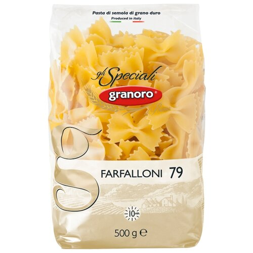 Granoro Макароны gli Speciali Farfalloni n. 79, 500 г