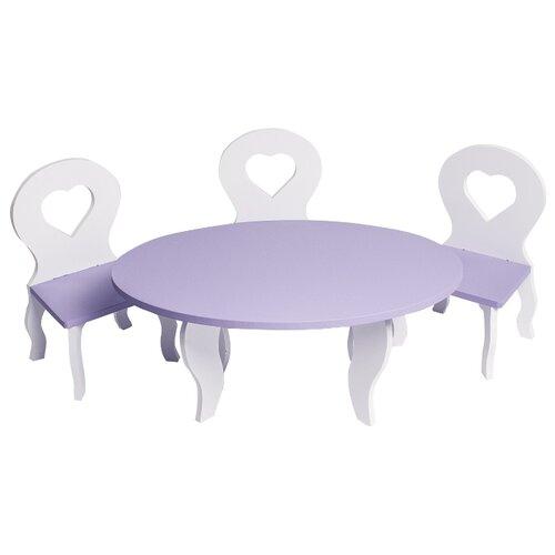 Купить PAREMO Набор мебели для кукол Шик (PFD120-49/PFD120-51/PFD120-48/PFD120-50/PFD120-47) белый/фиолетовый, Мебель для кукол