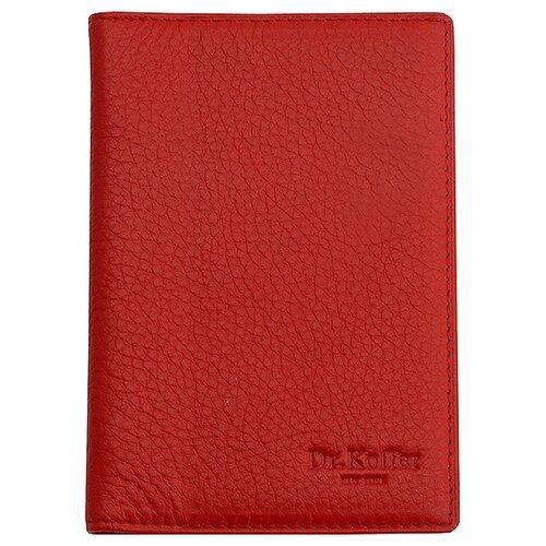 Обложка для паспорта Dr.Koffer X510130-01-12, красный