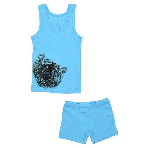 Купить Комплект нижнего белья RuZ Kids размер 92-98, бирюзовый, Белье