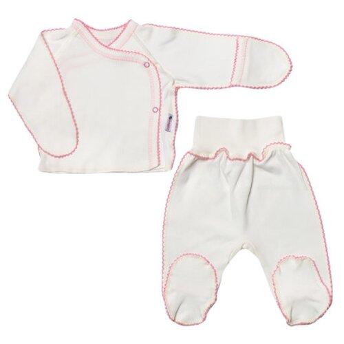 Купить Комплект одежды Клякса размер 20-62, белый/розовый, Комплекты